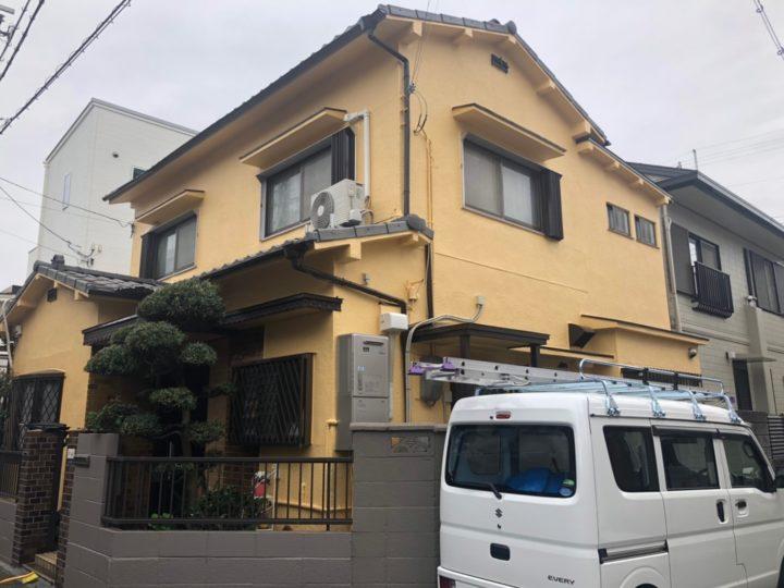 八尾市東本町 O様邸 外壁塗装工事