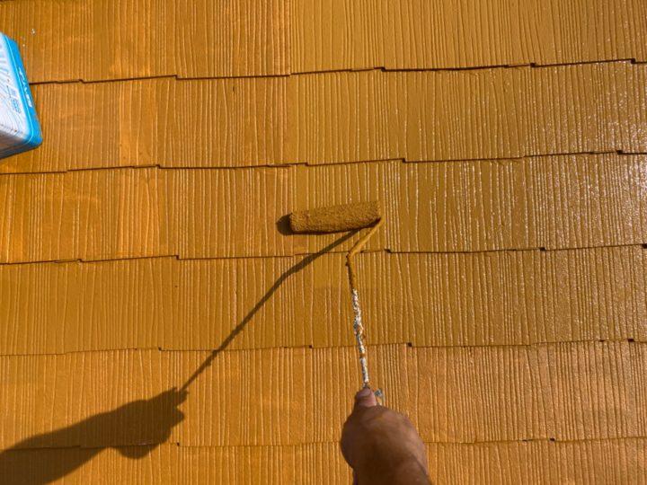 屋根/上塗り・上吹き