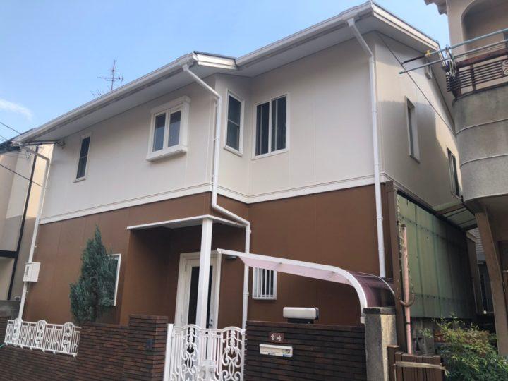 八尾市 M様邸 カラーシミュレーションとおりで大満足! 外壁塗装工事