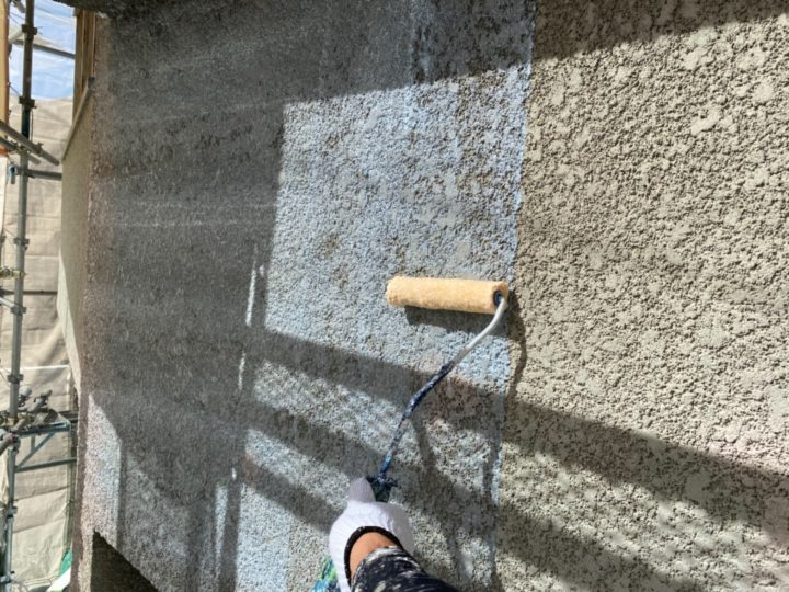 外壁/下塗り1回目