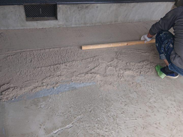 ガレージ床舗装