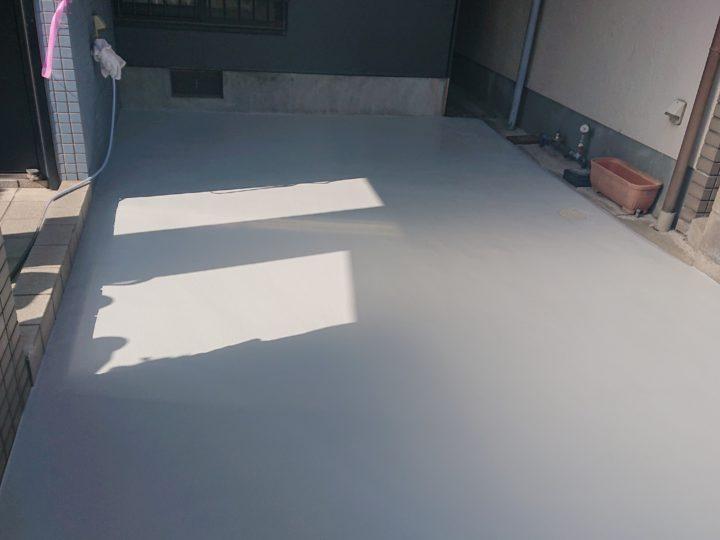 ガレージ床舗装/完成