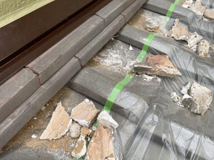 瓦屋根塗装/漆喰撤去