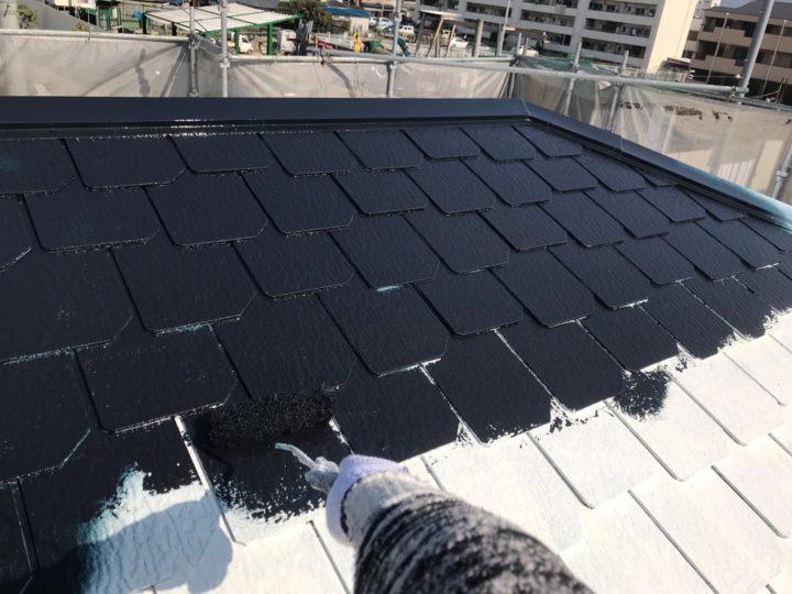 屋根/中塗り