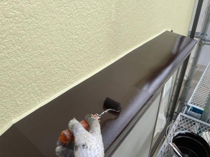 付帯工事/庇上塗り