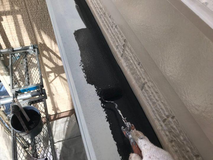 付帯工事/庇中塗り