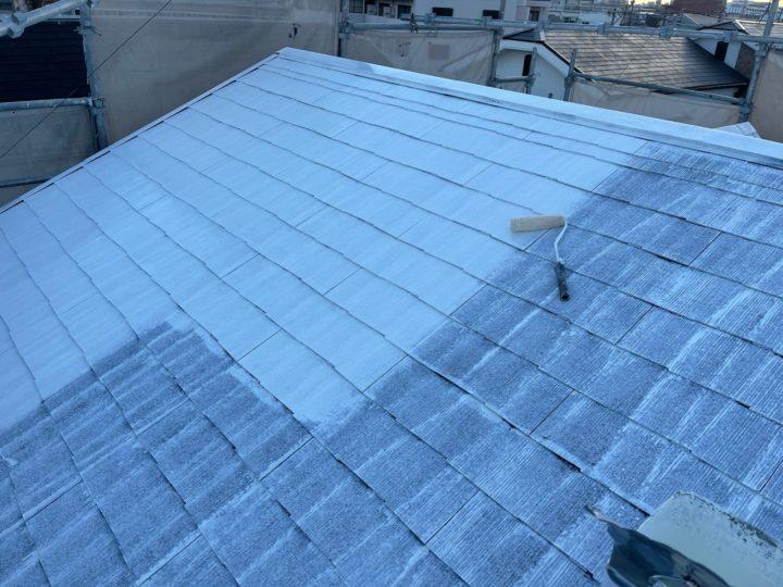 屋根塗装/下塗り2回目