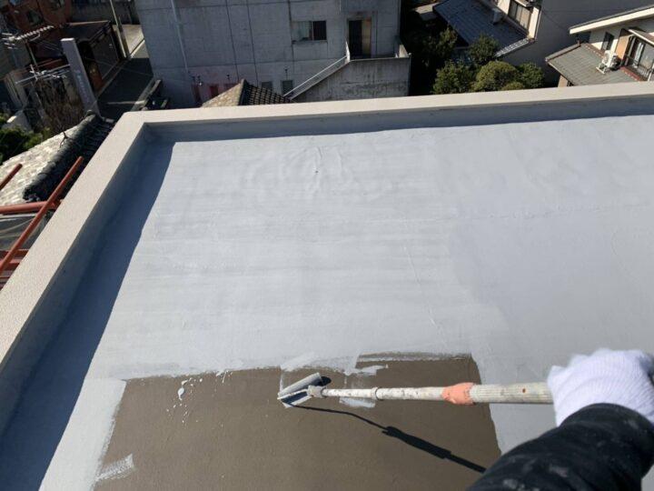 屋上防水/水性塗膜2層目