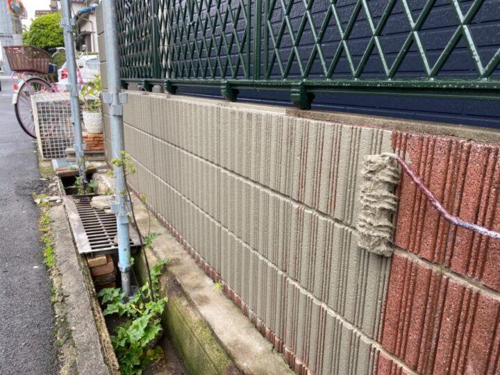 擁壁塗装/カチオンしごき