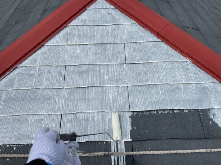 屋根塗装/下塗り1回目