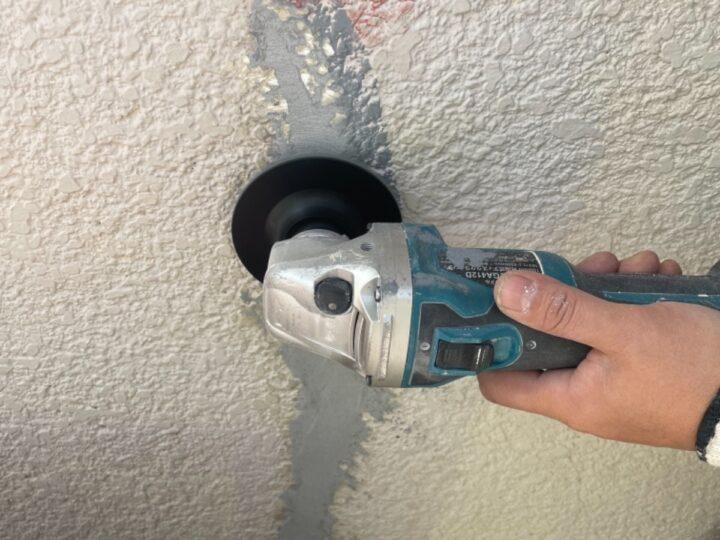 外壁クラック補修/調整