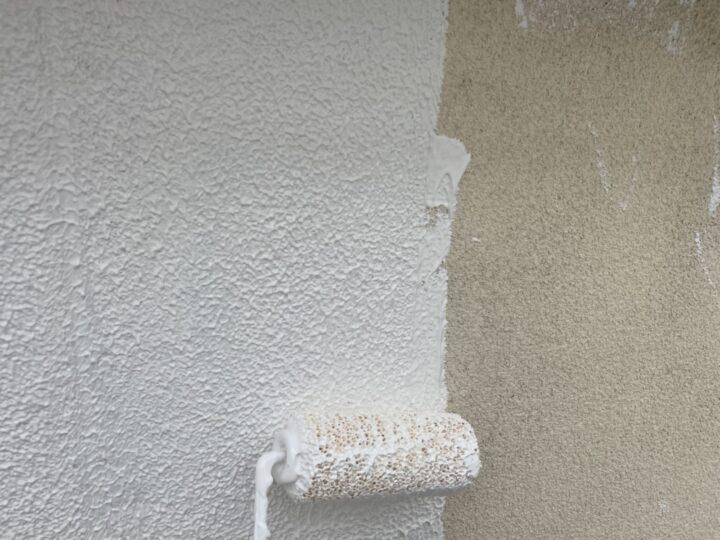 外壁補修/下塗り2回目