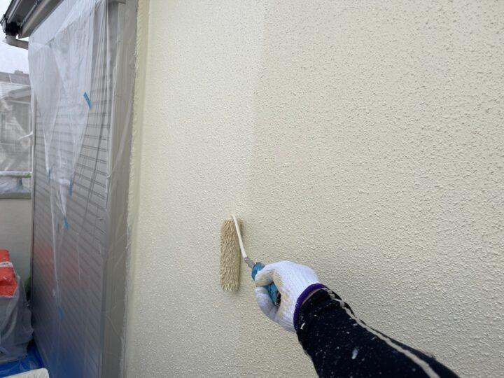モルタル壁塗装/上塗り
