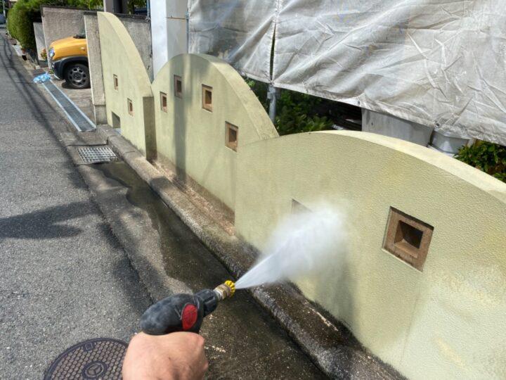 高圧洗浄/擁壁