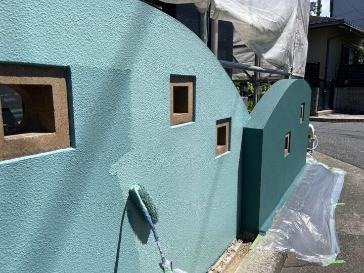 擁壁塗装/上塗り