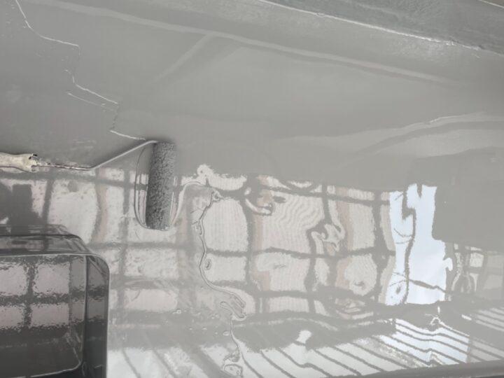 ベランダ防水/ウレタン2層目